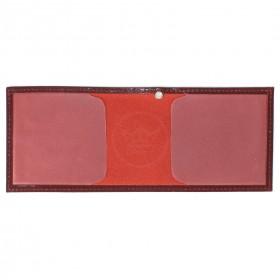 Обложка Croco-у-600 (для удостоверения)  натуральная кожа бордо шик (11)  209469