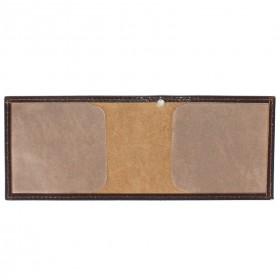Обложка Croco-у-600 (для удостоверения)  натуральная кожа коричневый шик (6)  209470