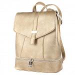 Сумка женская искусственная кожа ADEL-90/ММ   (рюкзак) ,    1отд,    плечевой ремень,    золото