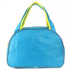 Сумка дорожная SilverTop-4195 Транзит,  б/подклада,  жесткое дно,  ножки,   (попугай)  голубой/желтый 209926