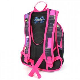 Рюкзак молодежный UfoPeople-13357 эргоном спинка,    3отд+2внеш карм,    черн/роз