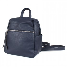 Сумка женская искусственная кожа GR-1616    (рюкзак-мини) ,    1отд,    3внут+3внеш карм,    темно-синий