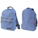 Рюкзак муж Rise-м-357,    уплотн.спинка,    1отд,    2внеш карм,    синий