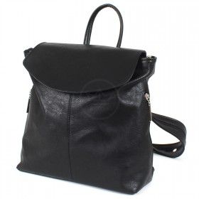 Сумка женская искусственная кожа Дила-007  (рюкзак),  1отд,  2внут+3внеш карм,  черный 210076