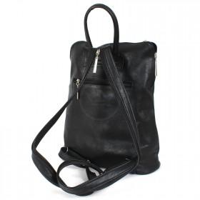 Сумка женская искусственная кожа Дила-006    (рюкзак) ,    1отд,    2внут+2внеш карм,    черный