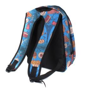 Рюкзак Дизайн-Соло,    молодежный,    уплот спинка,    2отд. 1внеш карм,    синий    (игрушки)