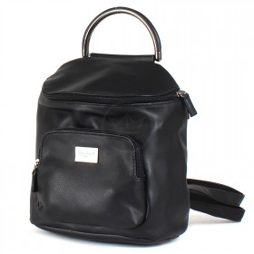 Сумка женская искусственная кожа DJ-CM 3919-BLACK   (рюкзак) ,    1отд,    2внеш+2внут/карм,    черный