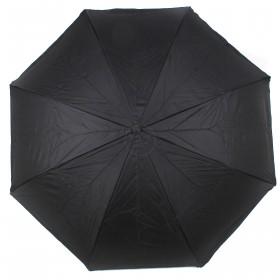 Зонт женский TR-0000. R=60см,    наоборот;    трость;    8спиц-сталь+fiber;    СМАРТ,    полиэстер,       (перья)    черный