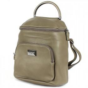 Сумка женская искусственная кожа DJ-CM 3919-KHAKI   (рюкзак) ,    1отд,    2внеш+2внут/карм,    зеленый