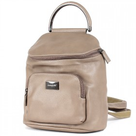 Сумка женская искусственная кожа DJ-CM 3919-D.CAMEL   (рюкзак) ,    1отд,    2внеш+2внут/карм,    бежевый