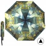 Зонт женский TR-107,    R=56,    суперавт;    8спиц-сталь;    3слож;    полиэстер,       (Франция)    зеленый