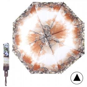 Зонт женский TR-700 R=56см,  полуавт;  8 спиц-сталь-fiber;  полиэстер,  коричневый 211127
