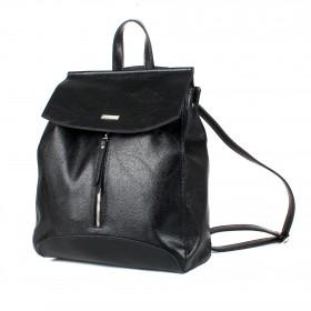 Сумка женская искусственная кожа ADEL-83/ММ   (рюкзак) ,    1отд+еврокарман,    черный