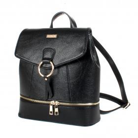 Сумка женская искусственная кожа ADEL-90/ЗФ/ММ   (рюкзак) ,    1отд,    плечевой ремень,    черный