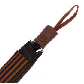 Зонт женский TR-35179,  R=56,  полуавт;  8спиц-сталь;  3слож;  полиэстер,   (полоски)  коричневый 211647