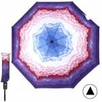 Зонт женский 10565-5,  R=56,  полуавт;  8спиц-сталь;  3слож;  полиэстер,  фиолетовый 211679
