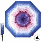 Зонт женский 10565-5,    R=56,    полуавт;    8спиц-сталь;    3слож;    полиэстер,    синий