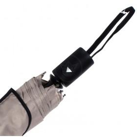 Зонт женский 10565-5,  R=56,  полуавт;  8спиц-сталь;  3слож;  полиэстер,  бежевый 211682