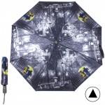 """Зонт женский TR-3571,  R=56см,  полуавт;  8спиц-сталь+fiber;  3слож;  сатин, """"Прогулка"""" серый 211721"""