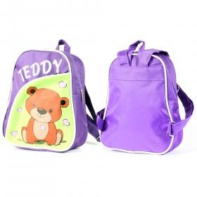 Рюкзак детский Silver Top-1040 Кроха прост спинка/Teddy,  фиолет/салат,  медведь 211768