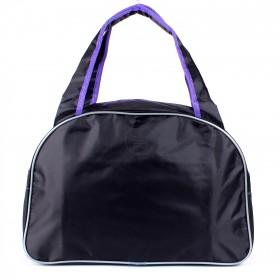 Сумка дорожная SilverTop-4195 Транзит,  б/подклада,  жесткое дно,  ножки,   (Romantik)  черный/фиолет 211824