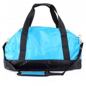 Сумка дорожная SilverTop-4192 Транзит, б/подклада,  жесткое дно,  ножки,  плеч ремень,  голубой/черный 211856