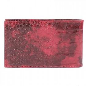 Визитница PRT-ФВ-1 (18 листов)  натуральная кожа гранат кайман  211956