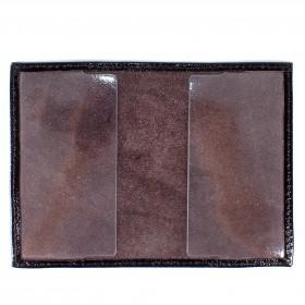 Обложка для пенсионного удостоверения PRT-У-53 натуральная кожа черный наплак  211983