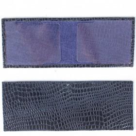 Обложка для пенсионного удостоверения PRT-У-54 (горизонт)  натуральная кожа синий крокодил-11 211991