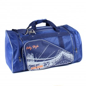 Сумка дорожная Арлион-71,  1отд,  3внеш карм,  плечевой ремень,  синий/серый 212323