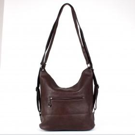 Сумка женская искусственная кожа ZEL-7831   (рюкзак) ,    1отд,    2внеш+4внут/карм,    коричневый