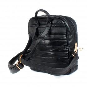 Сумка женская искусственная кожа ZEL-0213   (рюкзак)    1отд,    1внеш+3внут/карм,    черный