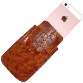 Футляр для мобильного телефона F-4,    коричневый камушки   (119)
