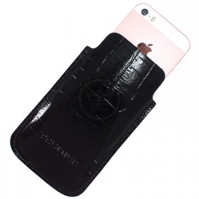 Футляр для мобильного телефона F-4,    черный крокодил   (101)