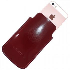 Футляр для мобильного телефона F-4,    красный тем гладкий   (138)