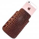 Футляр для мобильного телефона F-4,    коричневый св кайман   (220)