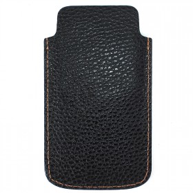 Футляр для мобильного телефона F-4,    черный флотер джинс   (21-10)