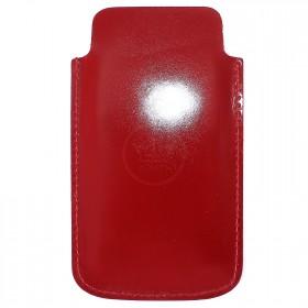 Футляр для мобильного телефона F-4,    красный гладкий   (135)