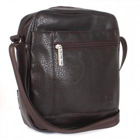 Сумка мужская искусственная кожа Silver Top-2032 Лидер,  1отд,  1внут+2внеш карм,  плечевой ремень,  коричневый 212832