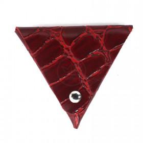 Футляр для монет Croco-Ф-700 натуральная кожа красный скат (74)  213191