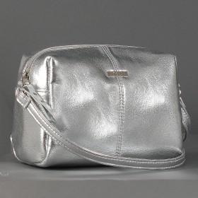 Сумка женская искусственная кожа ADEL-114,  1отд,  плечевой ремень,  серебро 213239