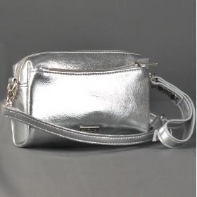 Сумка женская искусственная кожа ADEL-132,  3отд,  плечевой ремень,  ручка/петля,  серебро 213250