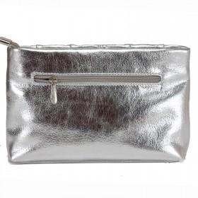Сумка женская искусственная кожа ADEL-135,  1отд,  ремень/цепочка,  ручка/петля,  серебро 213258