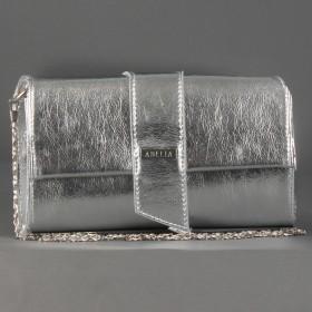 Сумка женская искусственная кожа ADEL-136,  1отд,  ремень/цепочка. серебро 213259