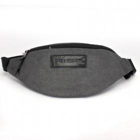 Сумка мужская Rise-к-007    (текстиль)    поясная,    1отд,    1внеш карм,    темно-серый