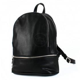 Сумка женская искусственная кожа GR-1577    (рюкзак) ,    2отд,    2внут+1внеш карм,    черный