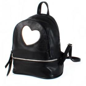 Сумка женская искусственная кожа GR-1610    (рюкзак) ,    2отд,    3внут+1внеш карм,    черный