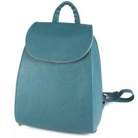 Сумка женская искусственная кожа GR-1380    (рюкзак) ,    1отд,    2внут карм,    морск.волна сафьян