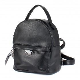 Сумка женская искусственная кожа GR-1612  (рюкзак-мини),  1отд,  2внут+1внеш карм,  черный 213534
