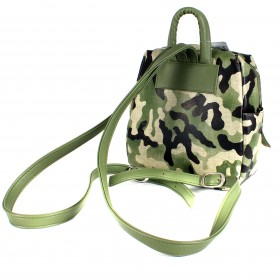Сумка женская искусственная кожа GR-1616    (рюкзак-мини) ,    1отд,    3внут+3внеш карм,    камуфляж